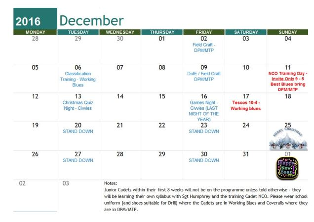 december-training-plan