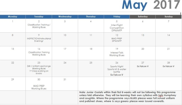 May 17 Programme