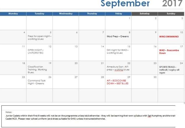 Sep 17 Programme