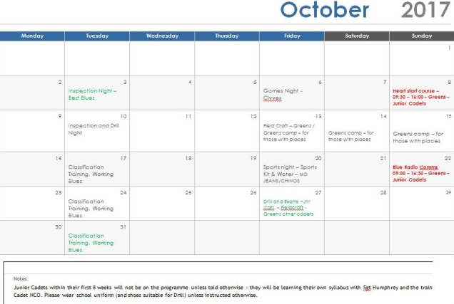 October programme 17 revised