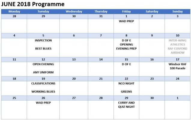 June 18 Programme