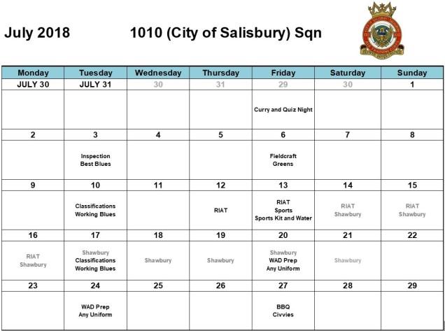 July 18 Programme
