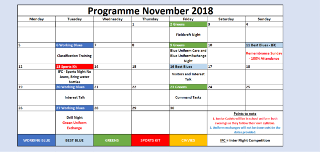 Nov 18 Programme