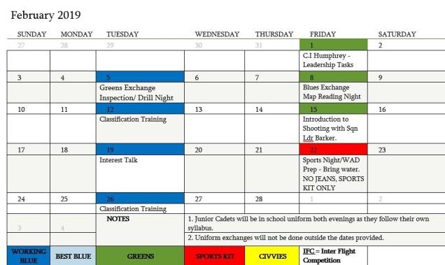 FEB 19 Programme